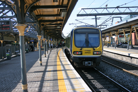 Dublin Connolly station,Ireland, April 2010, an Iarnrod Eireann train service