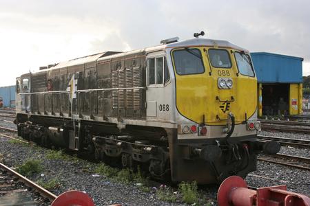 Dublin Heuston ,Ireland, April 2009, an Iarnrod Eireann train service 新聞圖片