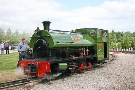 Statfold, Tamworth, Staffordshire, Reino Unido, junio de 2010, Vista del ferrocarril histórico Statfold Barn