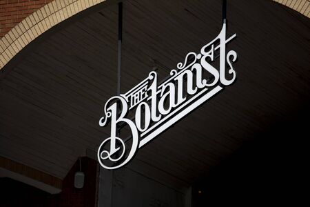 Coventry, Warwickshire, United Kingsom, June 27th 2019,  a sign for the Botanist