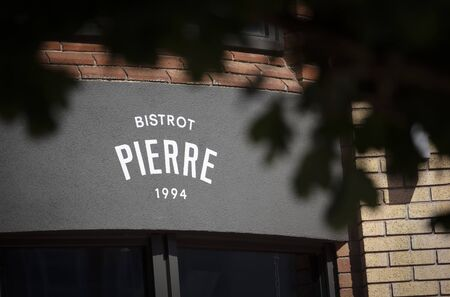 Coventry, Warwickshire, United Kingsom, June 27th 2019,  a sign for Bistrot Pierre