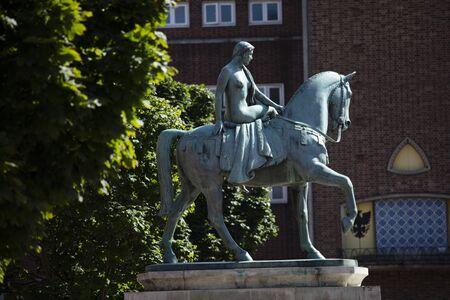 Coventry, Warwickshire, United Kingsom, June 27th 2019, Statue of Lady Godiva Editorial