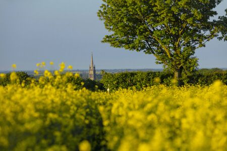 Louth, Lincolnshire, United Kingdom, May 2019, A view of the spire of St James Church in the town of Louth in the Wolds Editorial