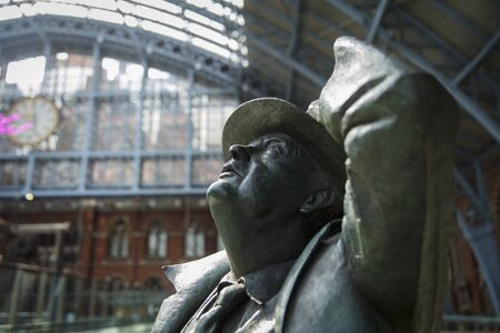 St Pancras Station, London, United Kingdom, July 17th 2019, Statue of Sir John Betjeman