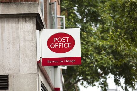 London, United Kingdom, 17th July 2019, Post Office Sign in central london