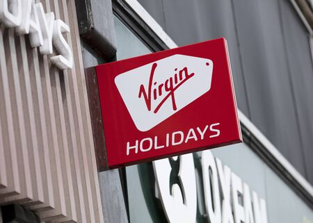 London, United Kingdom, 17th July 2019, Virgin Holidays Sign in central london