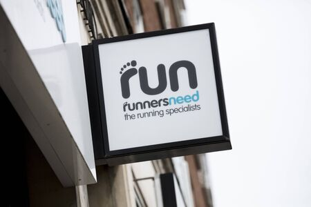 London, United Kingdom, 17th July 2019, Runnersneed Sign in central london