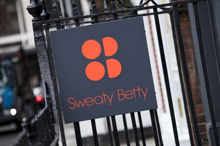 London, United Kingdom, 17th July 2019, Sweaty Betty Sign in central london Editorial