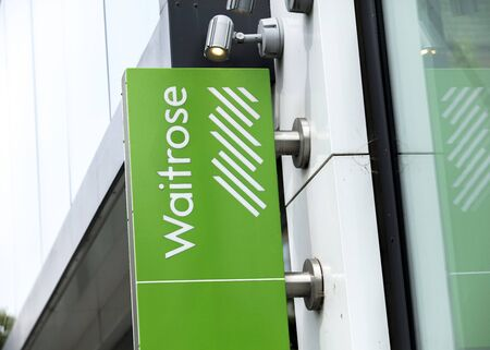 London, United Kingdom, 17th July 2019, Waitrose Sign Editorial