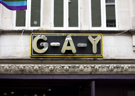 London, United Kingdom, 18th July 2019, entrance to GAY club in Soho