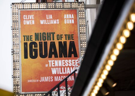 London, United Kingdom, 18th July 2019, entrance to the Noel Coward Theatre for the Night of the Iguana Play