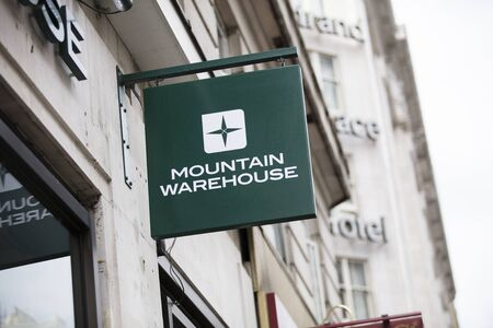 London, United Kingdom, 17th July 2019, Mountain Warehouse Sign
