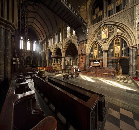 London, United Kingdom, 18th July 2019, interior of St Cuthberts Church in Earls Court Editorial