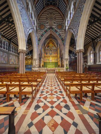 London, United Kingdom, 18th July 2019, interior of All Saints Church on Margaret Street