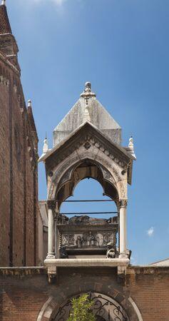 Verona, Italy, Europe, August 2019, A view of the Chiesa di Santa Anastasia church