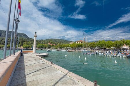 Garda, Lake Garda, Italy, August 2019, view of the lake, town and harbour Editöryel