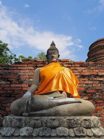 ayuthaya: Ancient Buddha statue in Ayuthaya Stock Photo