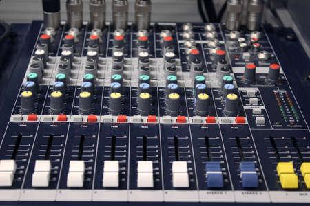 modulator: mixing desk Stock Photo