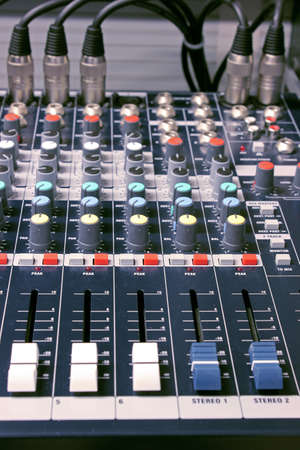 mixing desk photo