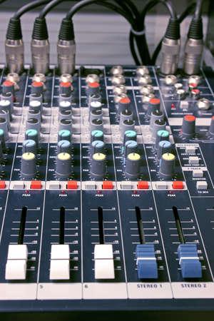 remix: mixing desk Stock Photo