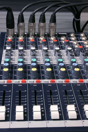 modulator: mixing desk Stock Photo
