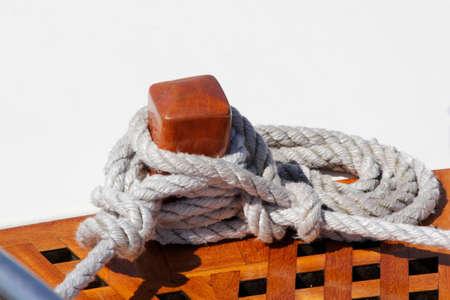 seaway: sailing boat detail Stock Photo