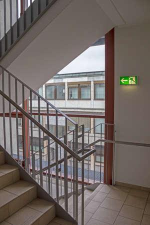 emergency exit in stairways photo