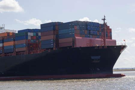 intermodal: container ship Stock Photo