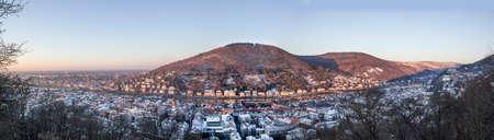 philosophers: Heidelberg panorama in winter Stock Photo