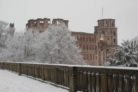 heidelberg: Heidelberg castle garden in winter