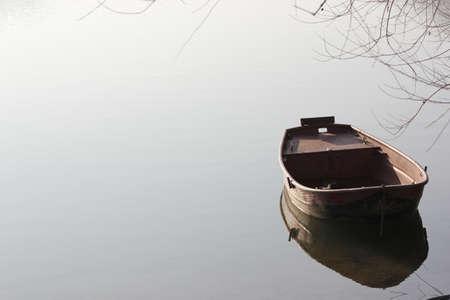 lonliness: lonley fishing boat
