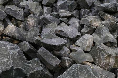obrero: rocas de basalto Foto de archivo