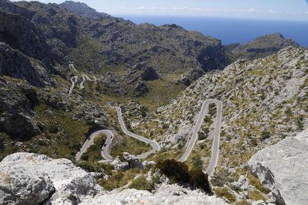 lofty: Sa Calobra winding road in the mountains