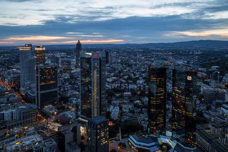 frankfurt: Frankfurt skyline Editorial