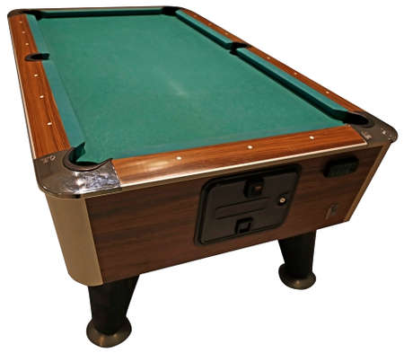cue sports: billiard table Stock Photo
