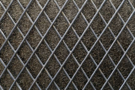 metal grid: texture glass and metal grid Stock Photo