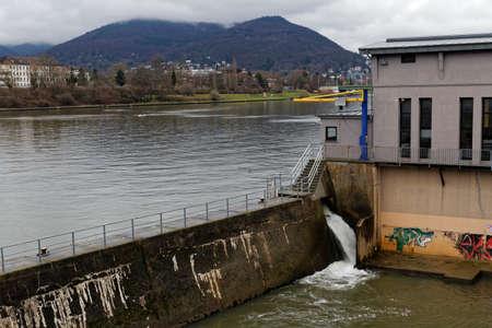 downfall: river waterfall