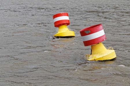 inland waterways: Buoys Stock Photo