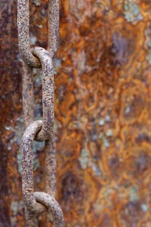 oxidado: cadena oxidada Foto de archivo
