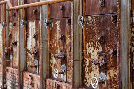 historic: historic industrial steam regulation valves