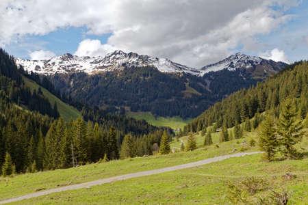snow covered austrian alps Stock Photo