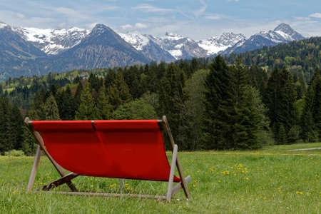 sunlounger in the austrian alps