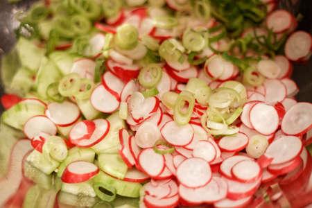 salad with raddish and cucumber