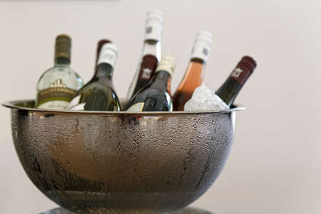 cooler: wine cooler Stock Photo