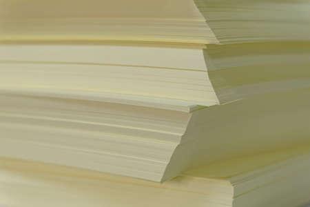 printery: yellow paper Stock Photo