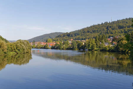 Neckargemuend town near Heidelberg by the river Neckar Stock Photo