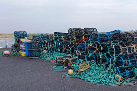 fishing baskets and nets