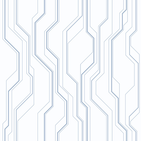 Abstract vector seamless pattern with lines. Background in high tech style. Muted monochrom colors. Vetores
