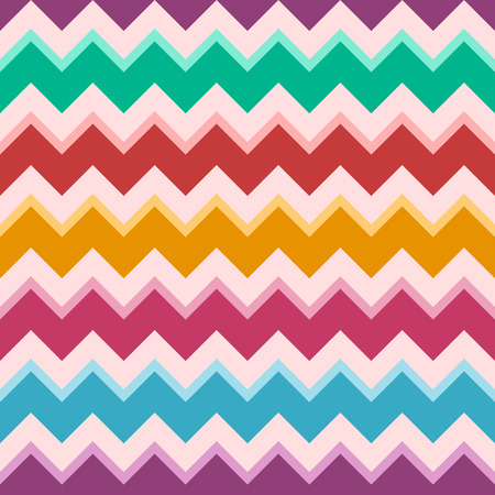 Seamless fashion zigzag pattern. Retro, pastel colors. Zigzag color lines. Colorful chevron pattern. Herringbone pattern. Vector background. Illustration