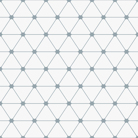 Abstract seamless pattern. Triangles with rounded corners. Vector background.